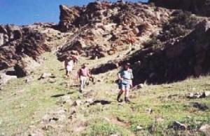 Descending from Mt Bryan