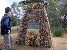 Simon Cameron and the Eyre Memorial at Crystal Brook
