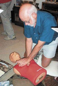 Following on Bob and Colins adventure, some friends thought it appropriate to brush up on their CPR skills