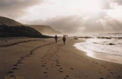 Walking along Tunkalilla Beach