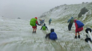 Snow on the summit of Mt Bryan, Saturday 28th June 2014, End-to-End Minus 1